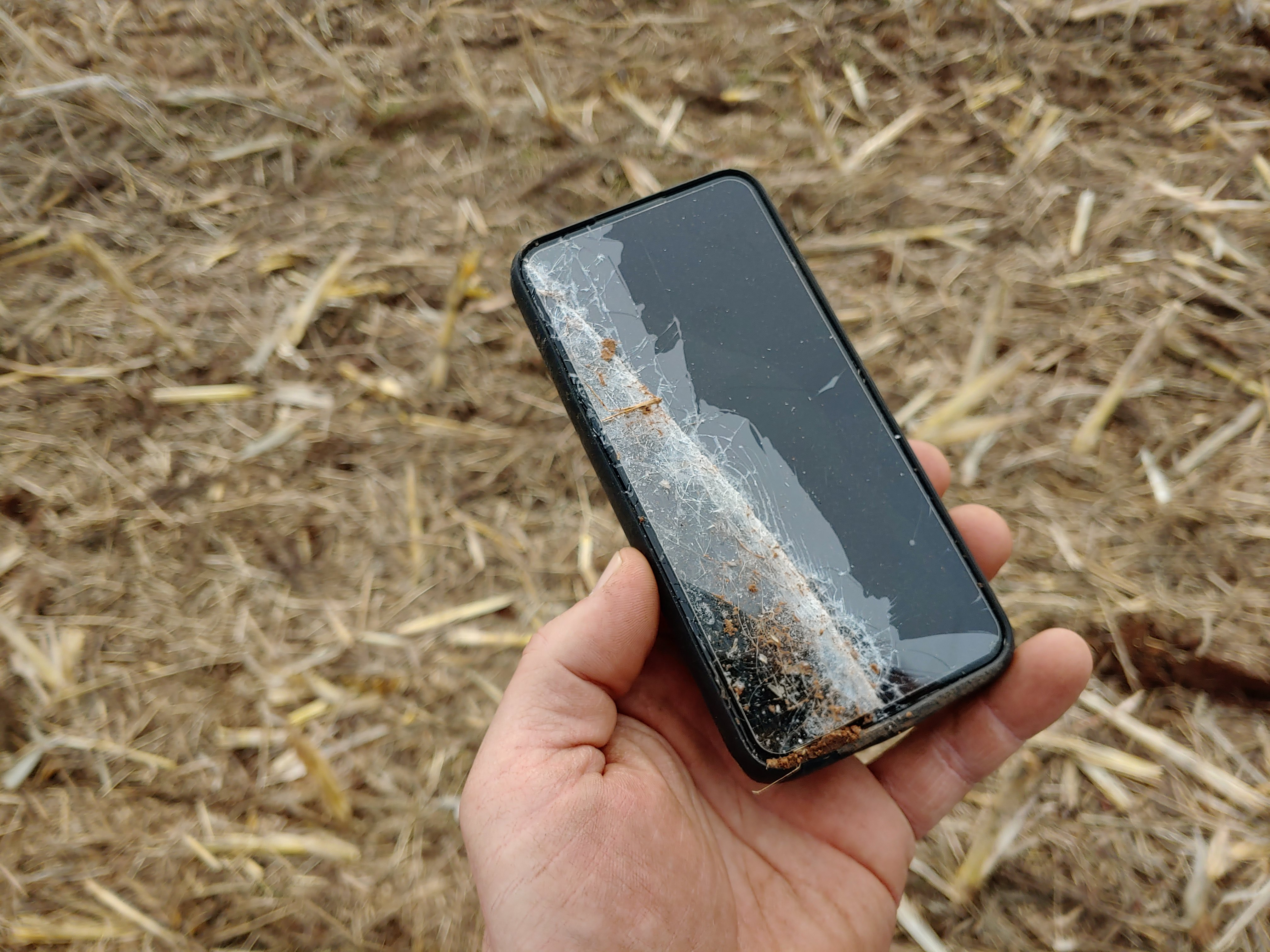 Ruined mobile phone