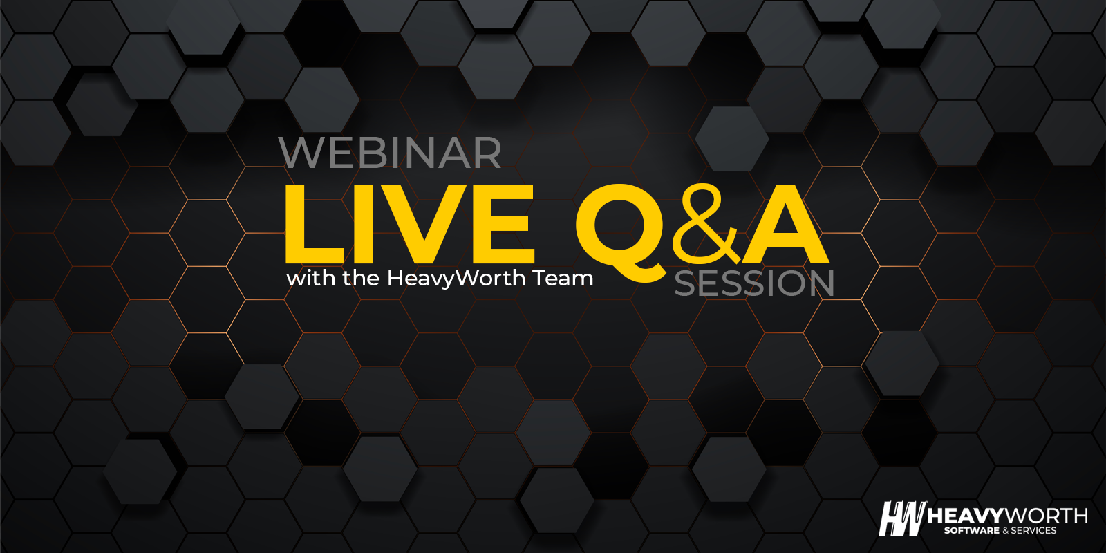 Questions and answers webinar graphic