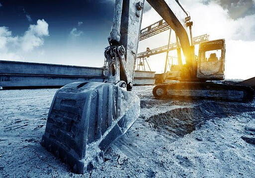 Excavator glamor photo